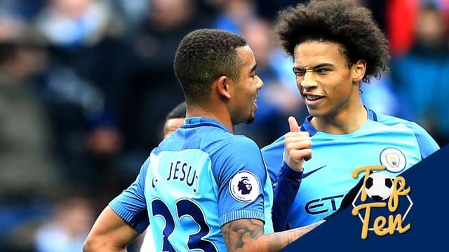 TOP TEN: We've selected the best Premier League goals City have scored this term