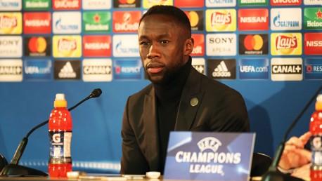 PRESS CONFERENCE: Bacary Sagna addresses the media ahead of Monaco v City