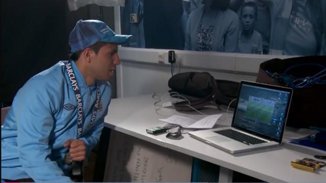 AGUEROOOOOO: Sergio watched back his historic goal against QPR in 2012