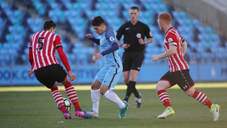 DIAZ: City's Spaniard searches for a way through the compact Southampton defence