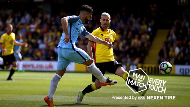 IN FOCUS: Sergio Aguero's man of the match display against Watford.