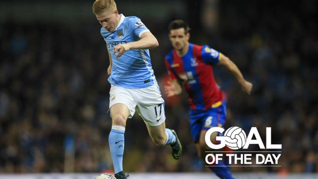 CRYSTAL CLEAR: Kevin De Bruyne in action against Palace