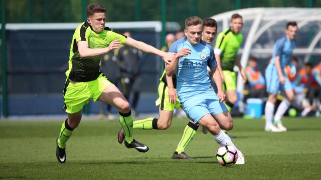 BOLTON: City's right winger lined up in an unfamiliar right-back
