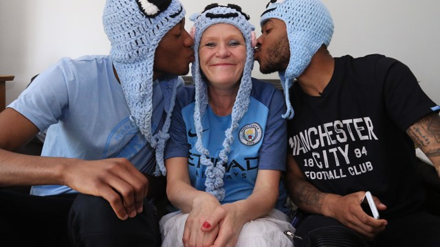 NOTHING WITHOUT YOU: The City players have thanked fans across Manchester for their support