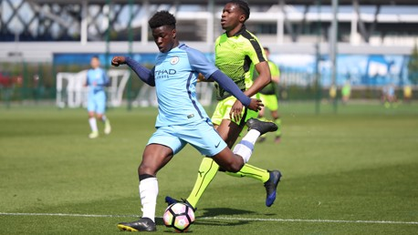 RICHARDS: City's U16s midfielder started from the left of the midfield three against Reading