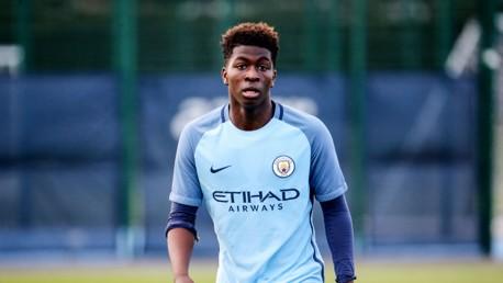 RICHARDS: City's U16s midfielder put on a stellar display for Lee Carsley's U18s side against Reading