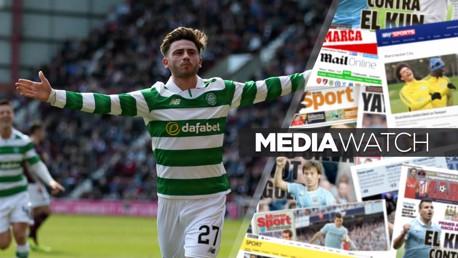 HIGH PRAISE: Patrick Roberts scored twice for Celtic on Thursday night