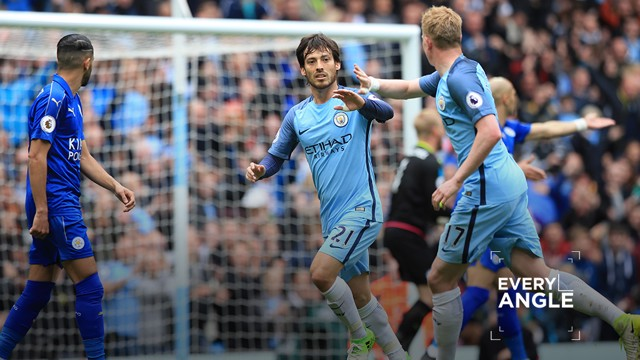 EVERY ANGLE: Check out Silva's opener from all angles around the Etihad Stadium