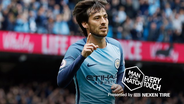 SILVA SHINES: David was man of the match in the 2-1 win over Leicester