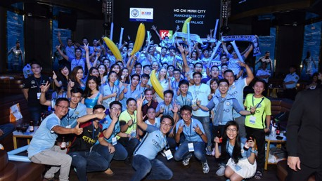 DEBUT: The first Manchester City fan event held in Ho Chi Minh City.