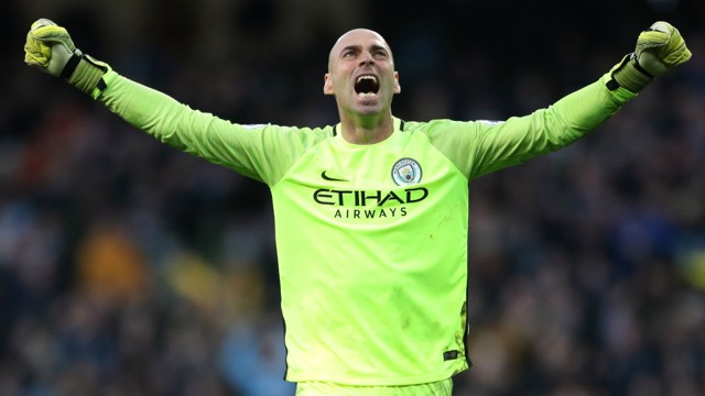 FAREWELL: Willy Caballero has thanked Manchester City fans.