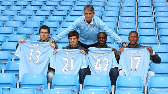 NEW KIDS ON THE BLOCK: Yaya was one of the four new signings unveiled in 2010.