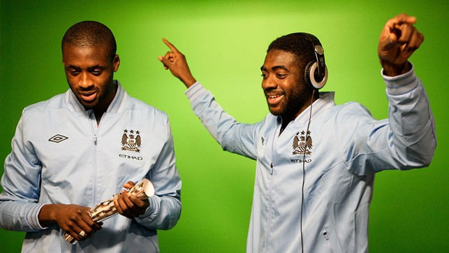 CHRISTMAS CRACKERS: The two Toure brothers pictured filming for CityTV.