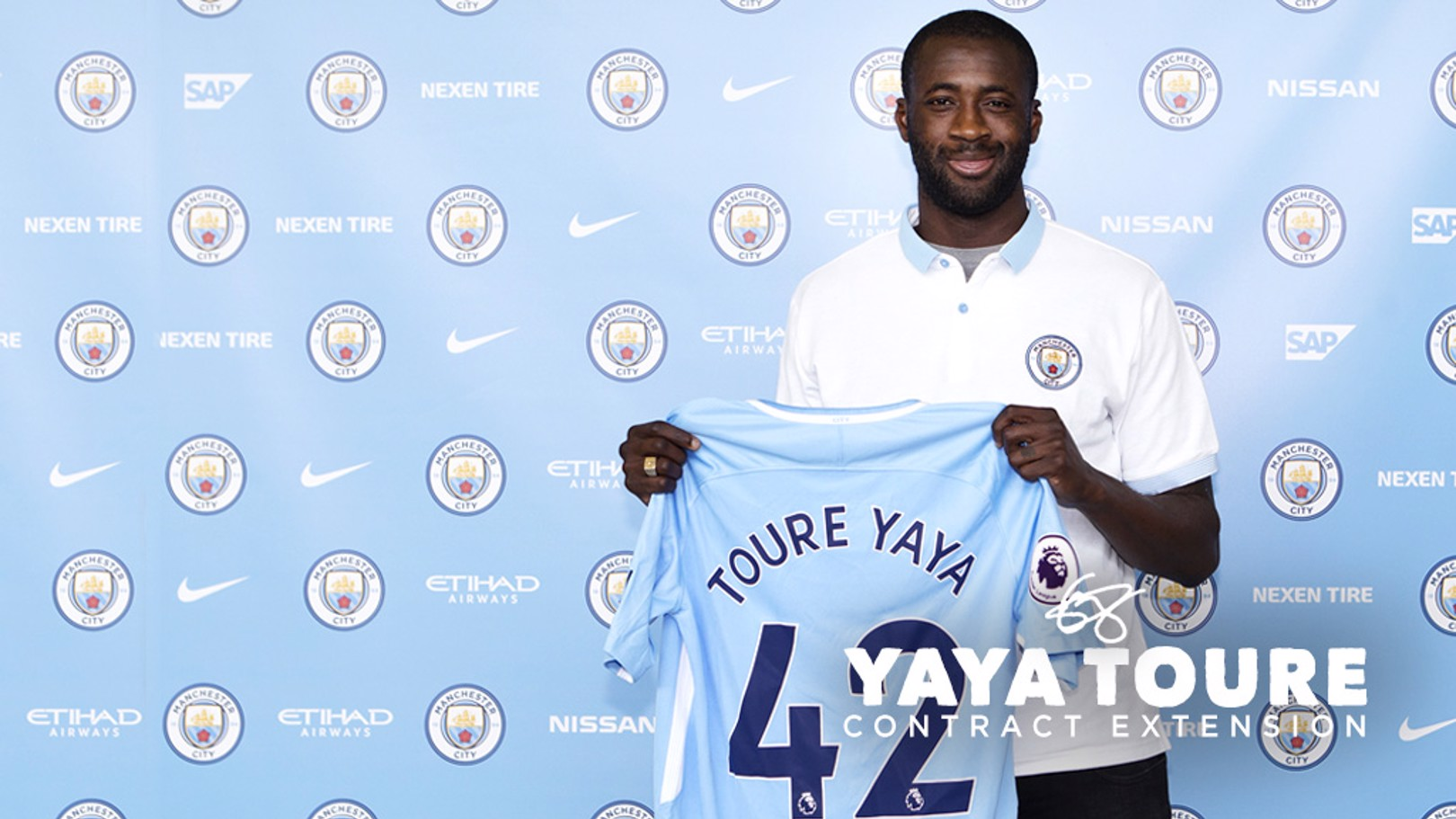 NEW CONTRACT: Yaya Toure has signed a one-year contract extension.