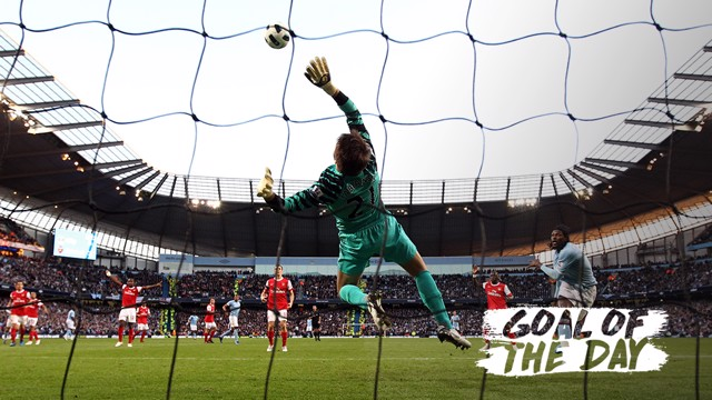 GOAL OF THE DAY: Emmanuel Adebayor sticks it to his former club with this bullet header