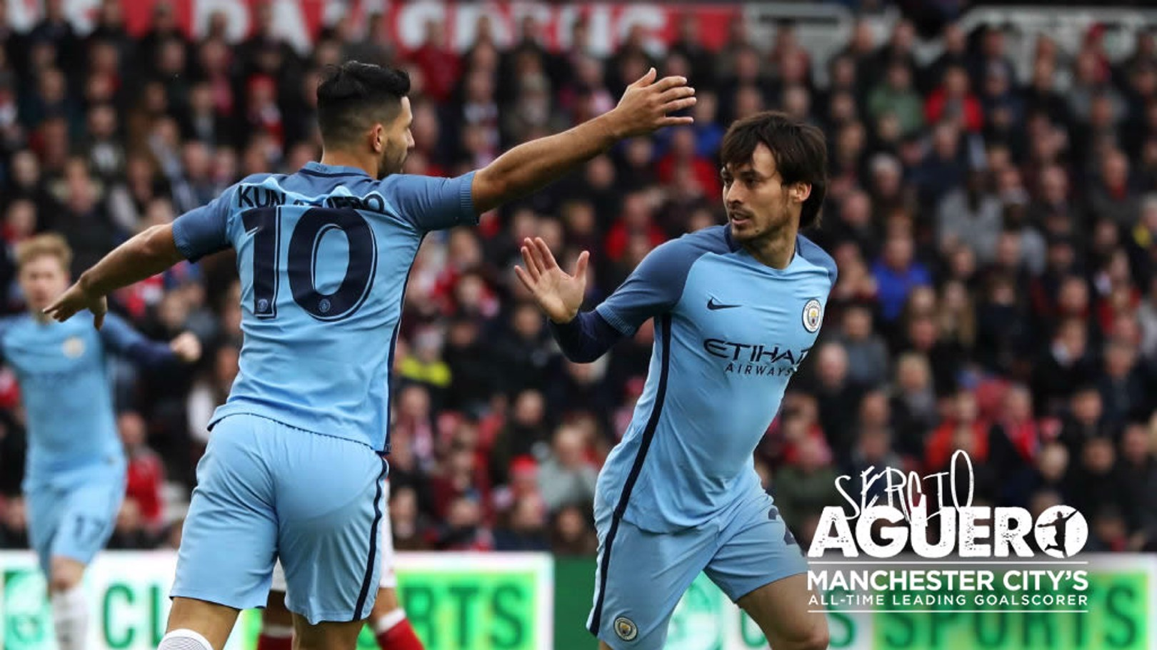 MAY I ASSIST YOU: David Silva leads the way in setting up Sergio