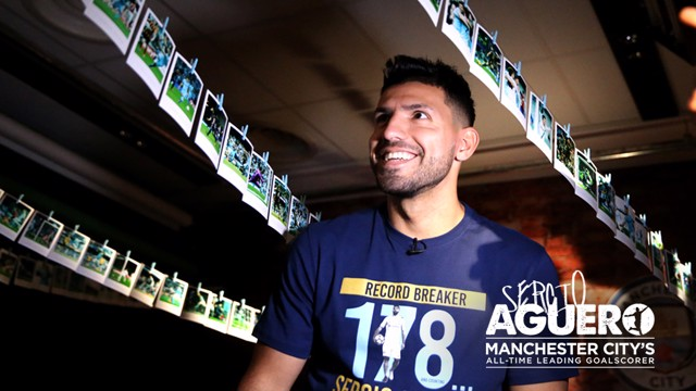 PICTURE PERFECT: Sergio Aguero recalls his most memorable goals.