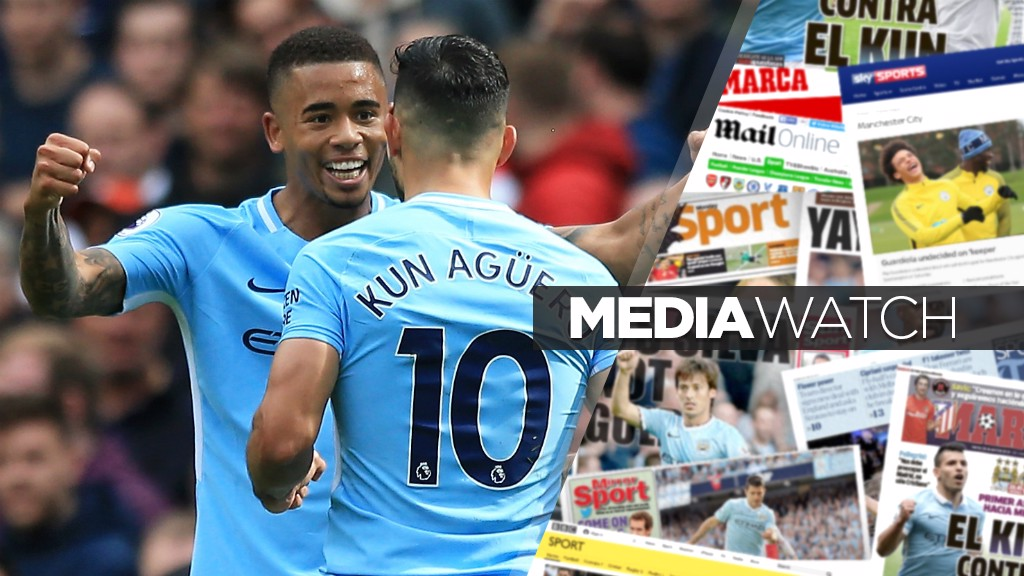 DYNAMIC DUO: Gabriel Jesus says he and Sergio Aguero have a great relationship - both on and off the pitch
