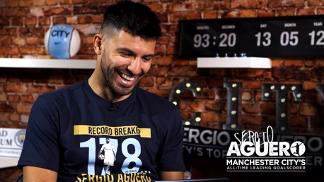 SURPRISE: Sergio Aguero received a host of messages from Messi, the Gallagher brothers and Zabaleta!
