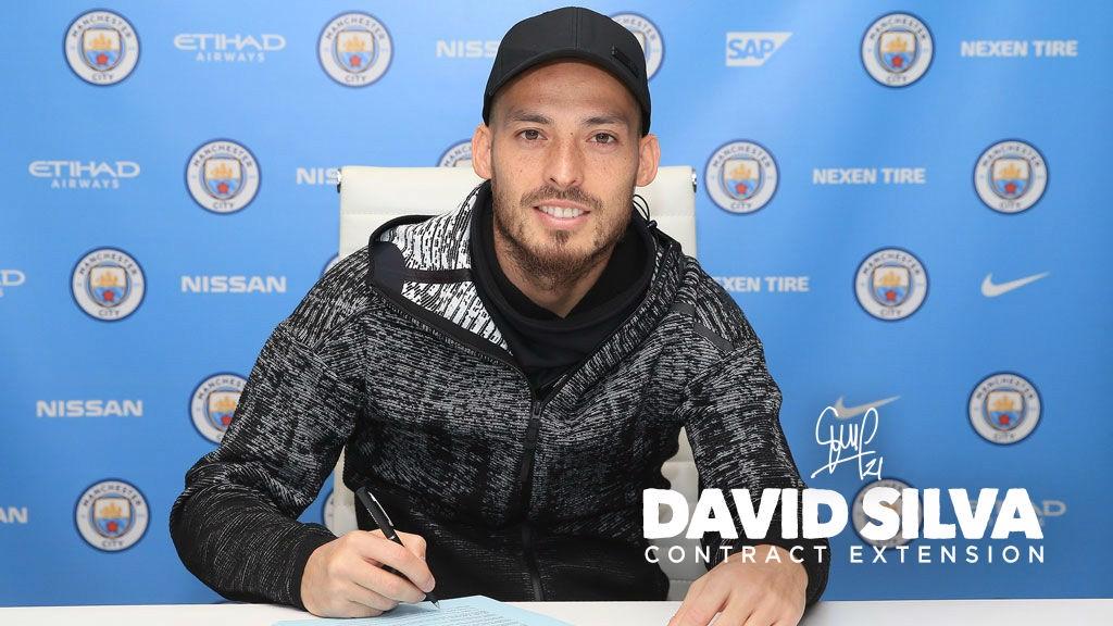 David Silva signs new City deal - Manchester City FC f312c5214