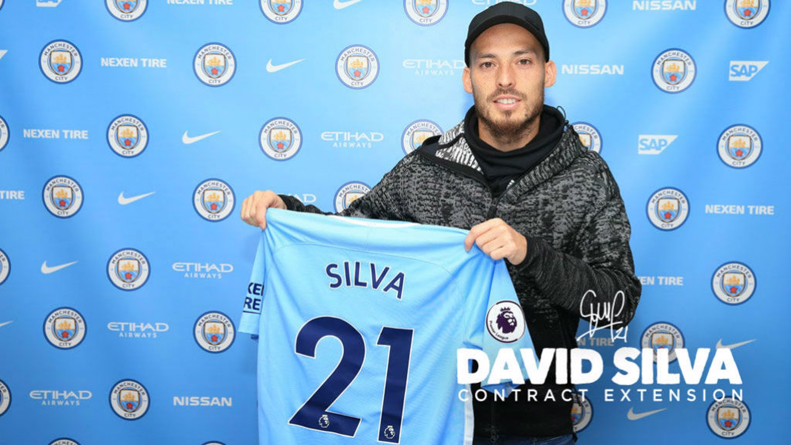 STAYING POWER: David Silva has signed a contract extension with Manchester City