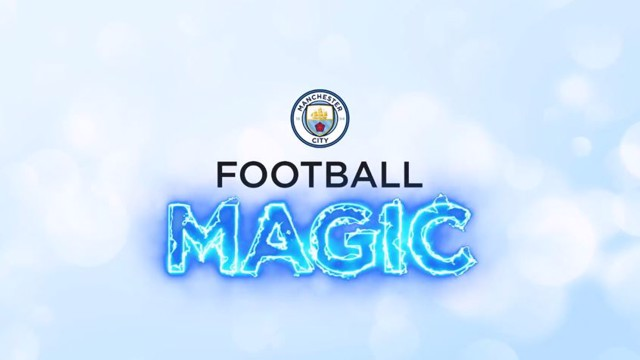 FOOTBALL MAGIC: Ilkay Gundogan and Eliaquim Mangala are tricked out by our City magician