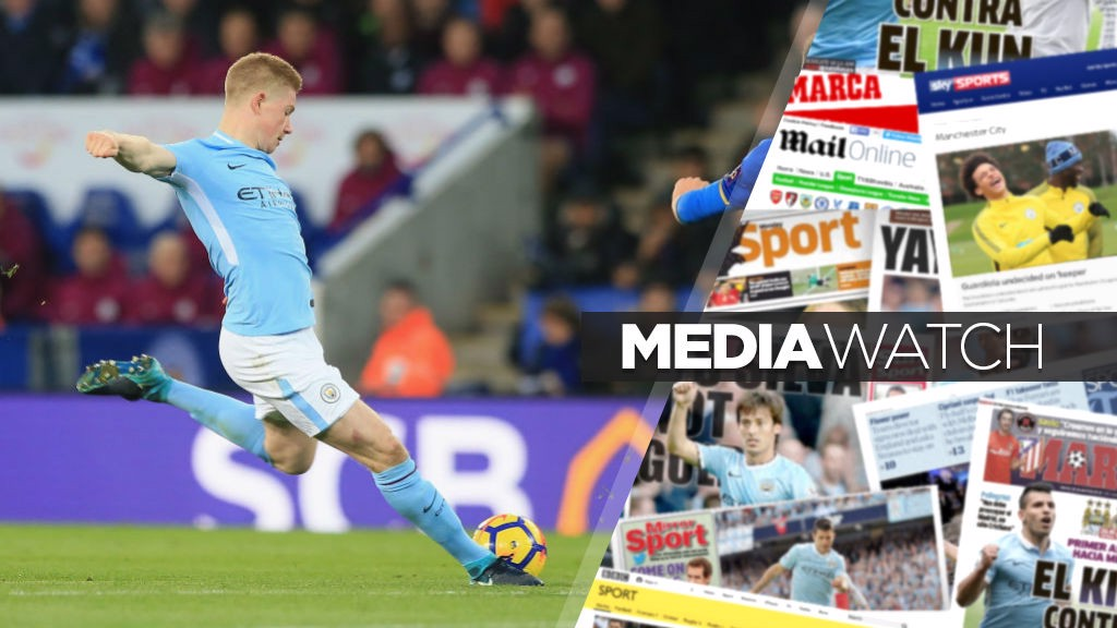 KDB: Kevin De Bruyne features in today's media watch.
