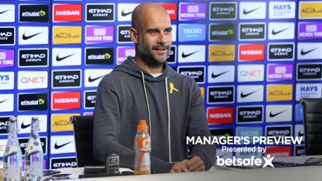 HUDDERSFIELD V CITY: Pep Guardiola addresses the media ahead of City's trip to Huddersfield