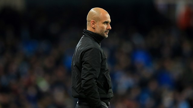 WATCHING: Pep Guardiola watched on as City compete against Southampton in the Premier League.