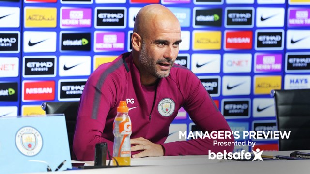 PREVIEW: Pep Guardiola faces the media ahead of Leicester.