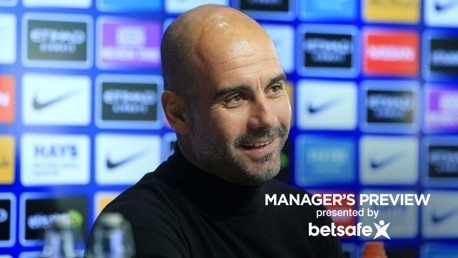PEP TALK: Guardiola faced the press on Friday ahead of this weekend's game at home to West Ham