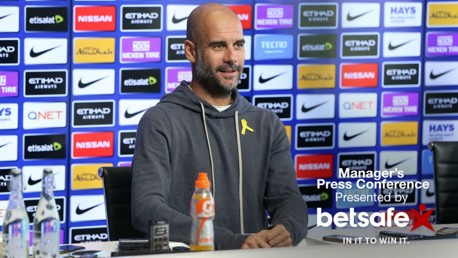 LOOKING FORWARD: Manchester City manager Pep Guardiola is focused on the trip to Huddersfield