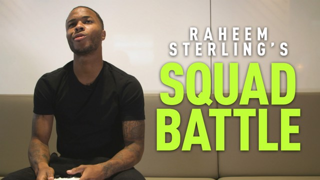 SQUAD BATTLES: Raheem Sterling's picked his team.