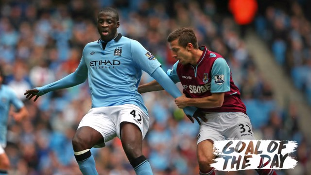 Yaya Toure in action against West Ham in 2013
