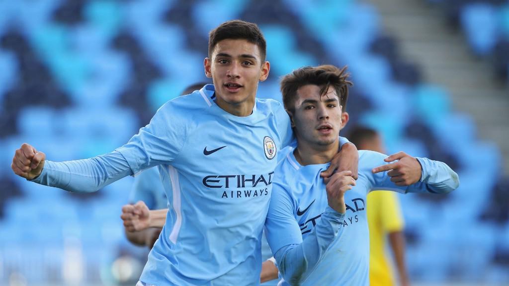ON TARGET: Brahim Diaz scored twice as the U19s beat Napoli 3-1.