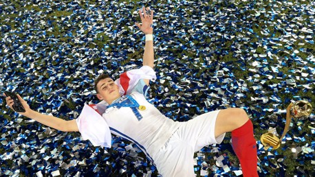 VICTORY: Phil Foden celebrates winning the U17 World Cup.