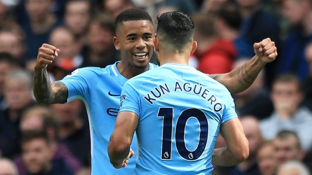 DEADLY DUO: Gabriel Jesus and Sergio Aguero make one lethal combination