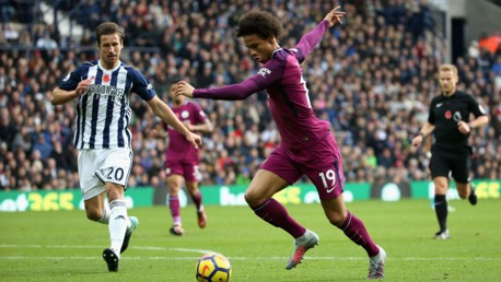CLASS: Sane stood out on a fine day for City at West Brom