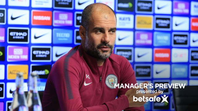 PEP TALK: Guardiola faced the press on Friday and discussed the January transfer window