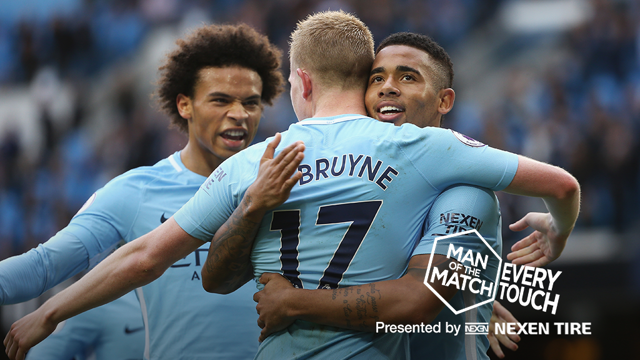 STAR MAN: Kevin De Bruyne produced a breathtaking performance against Stoke