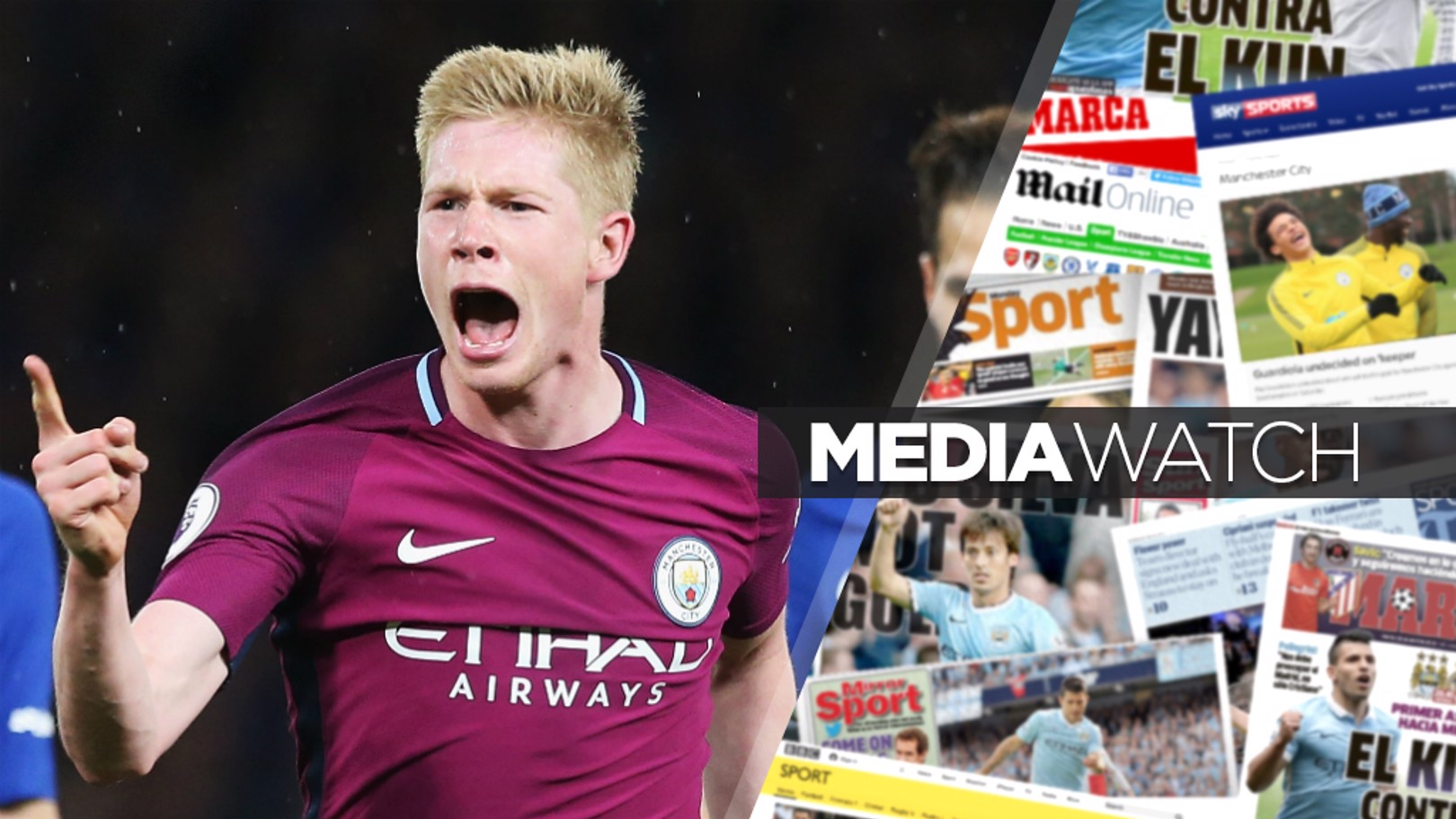 KDBRILLIANT: Kevin De Bruyne netted a stunning winner at Chelsea