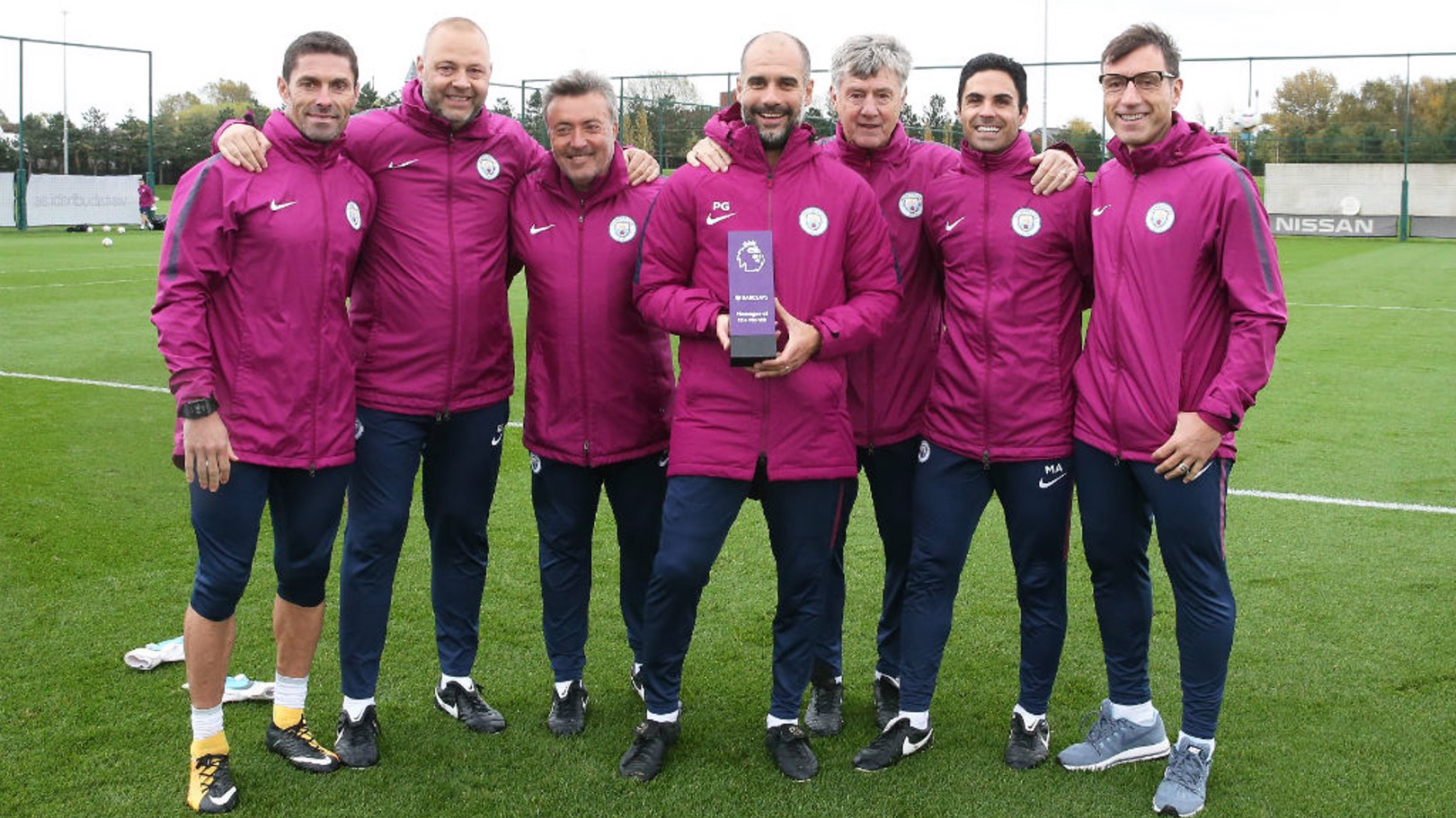 PERFECT: Pep Guardiola has been recognised for City's fine September that saw them win all four of their Premier League fixtures