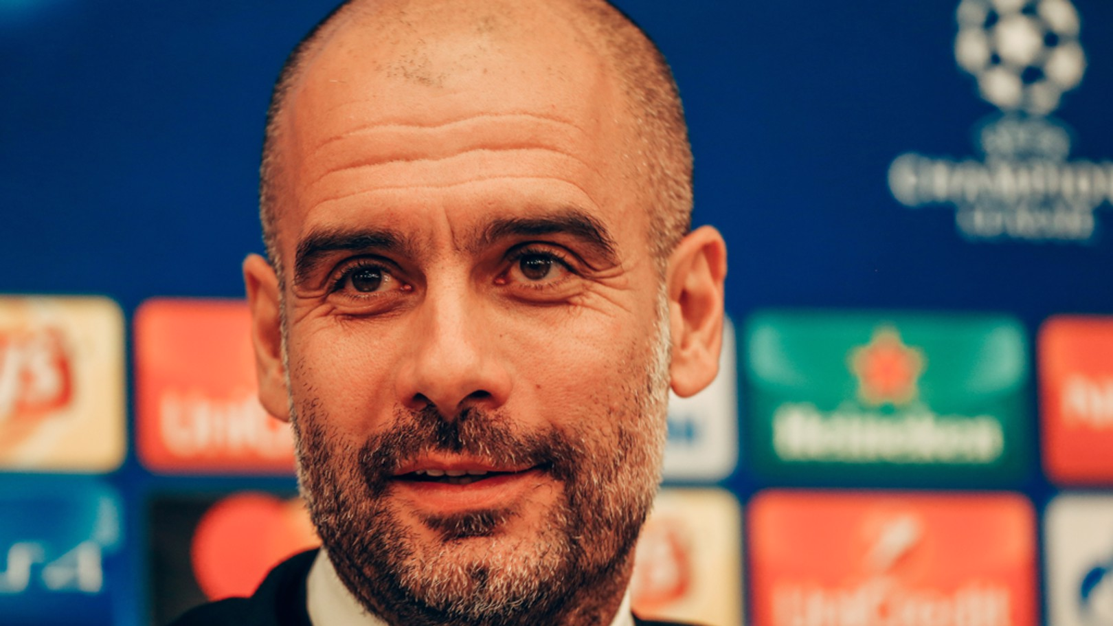 PEP TALK: Guardiola says his side are still developing