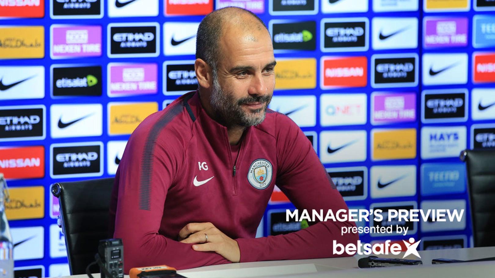El entrenador del City respondió a la prensa en la previa del partido frente al Stoke City.
