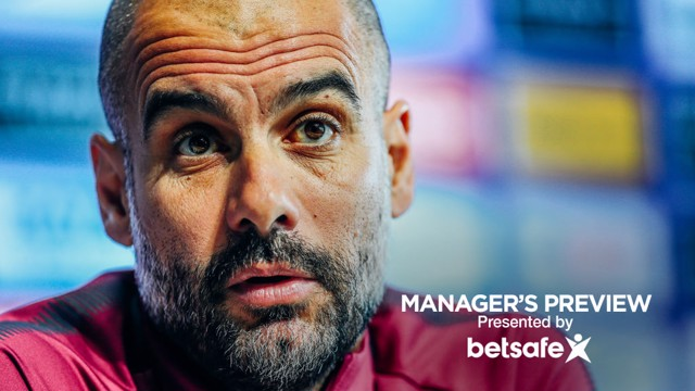 PEP TALK: Guardiola's side prepare to face West Brom.