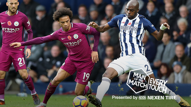 EVERY TOUCH: Sane v WBA