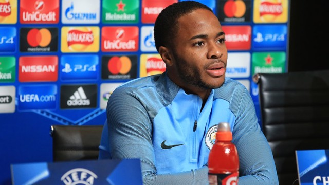 RAHEEM STERLING: City v Napoli pre-match press conference