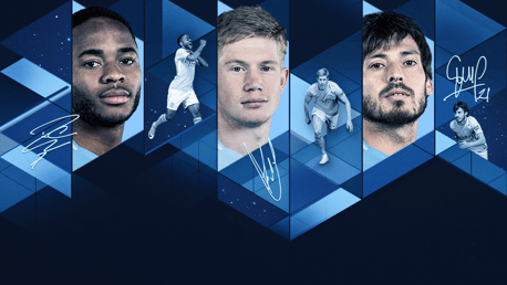 AUGUST AWARD: Raheem Sterling, Kevin De Bruyne and David Silva starred in the opening month of 2017/18