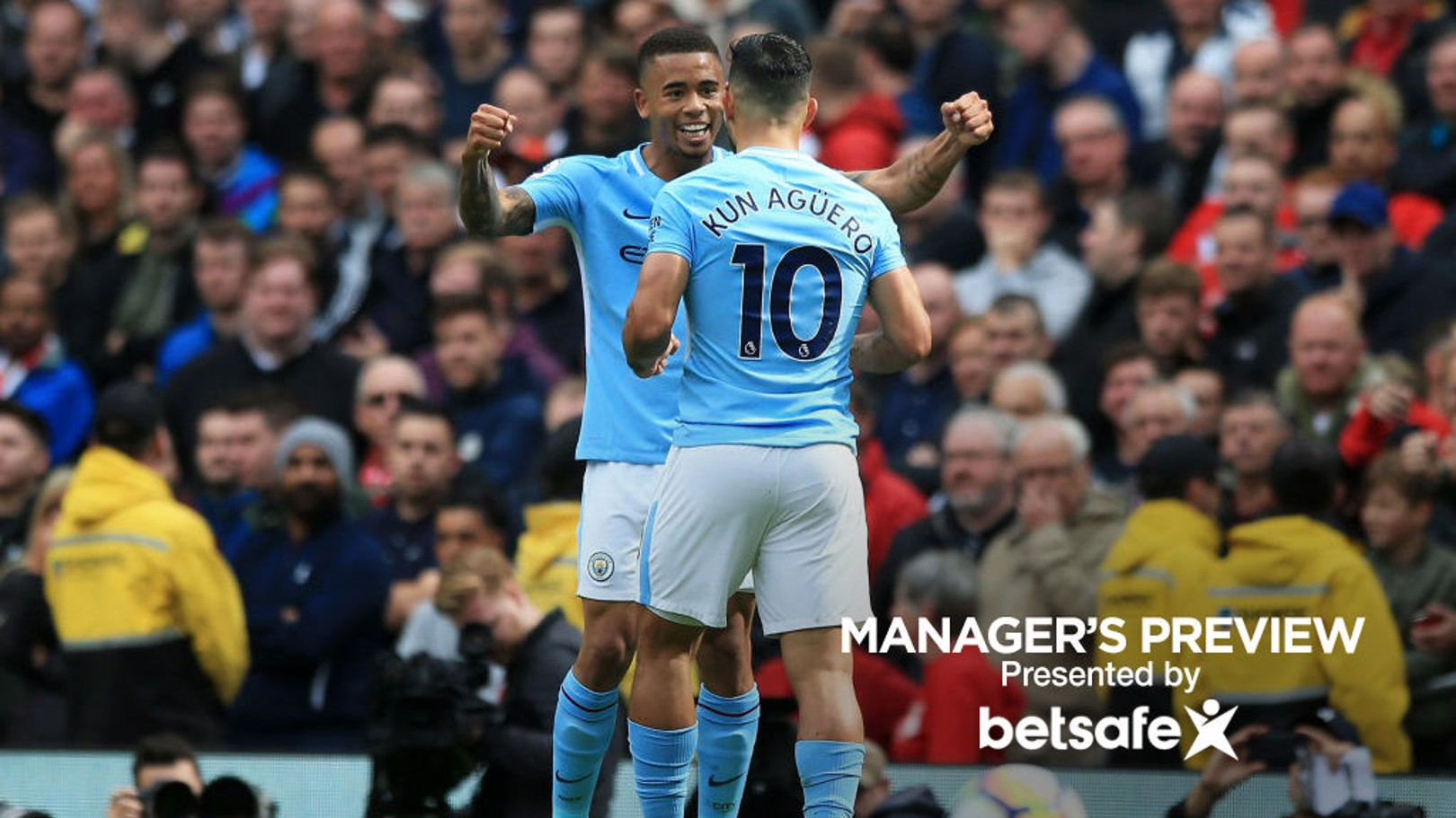 PERFECT PAIR: Sergio Aguero and Gabriel Jesus are forging an effective partnership.