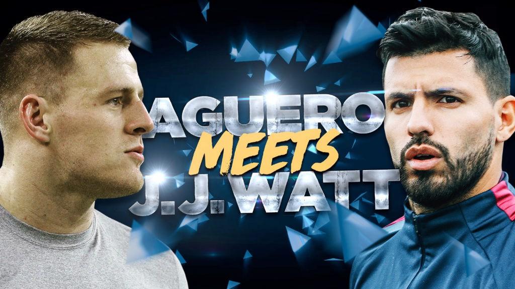 AGUERO V WATT: Watch Sergio take on JJ Watt